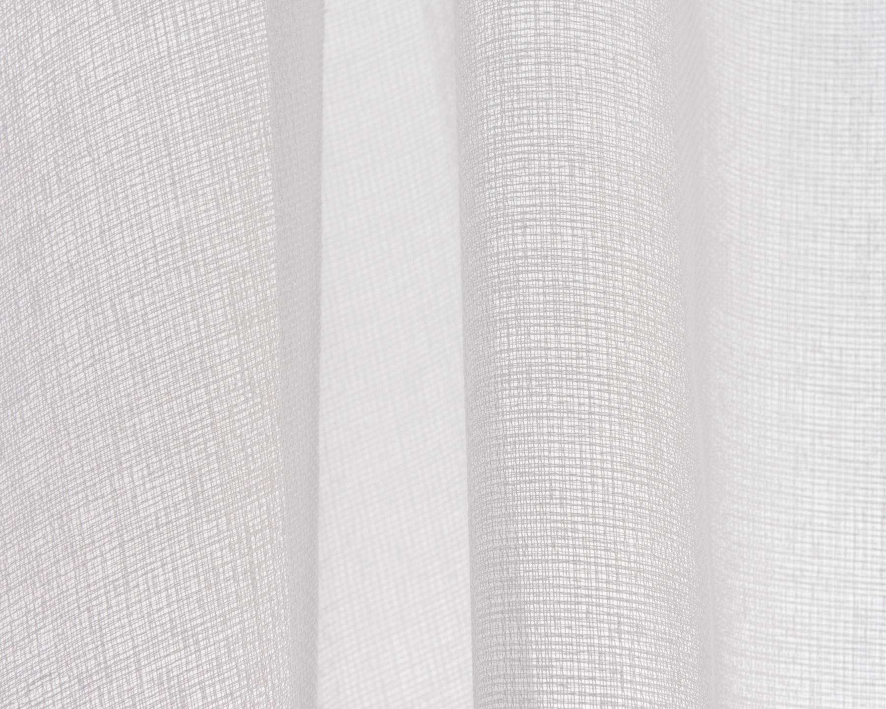 Fertigvorhang mit verdecktem Schlaufenband weiss (2)